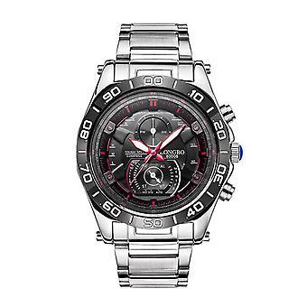 Reloj para hombre niños rojo plata negro relojes analógicos inteligentes negocios