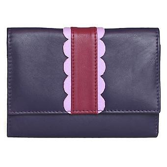 Eastern Counties Leather Womens/Ladies Melanie Purse With Scalloped Detail Panel
