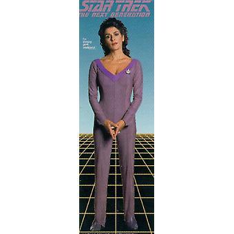 Star Trek Poster  NEXT GEN. (Counselor Troi) Kleinformat T�rposter