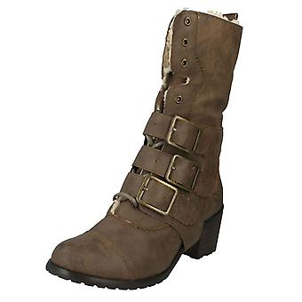 Ladies Spot On Mid High Boots Style - F5719
