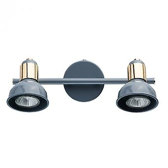 Neoklassieke blauwe vlek licht 2 lampjes