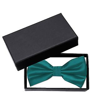 Fly teal green uni gloss loop Fabio Farini of noble bow tie solid color