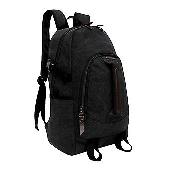 Black backpack made of durable fabric