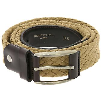 SELECTION by s. Oliver of trendy Wicker belt with buckle beige