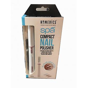 Homedics Glossy Nails Compact Automatic, 4 Cccessori Included for Filing to Eliminate the Calluses, and Polish with Light