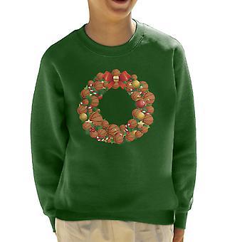 Christmas Basketball krans barneklubb Sweatshirt