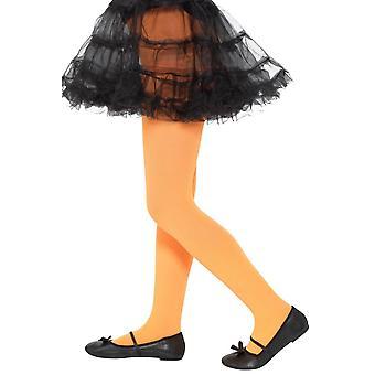 Opaque Tights Orange,Girls/Children's Tights, Age 6-12