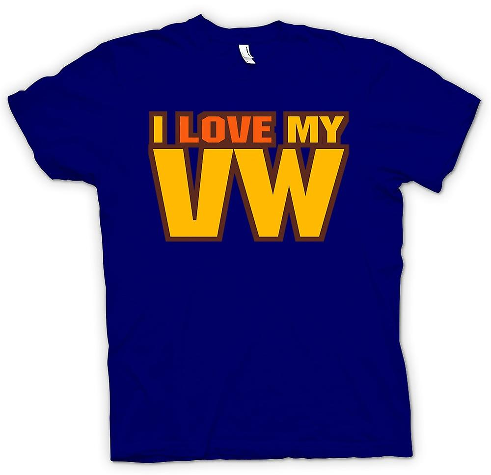 Mens T-shirt - I Love My VW - Car Enthusiast