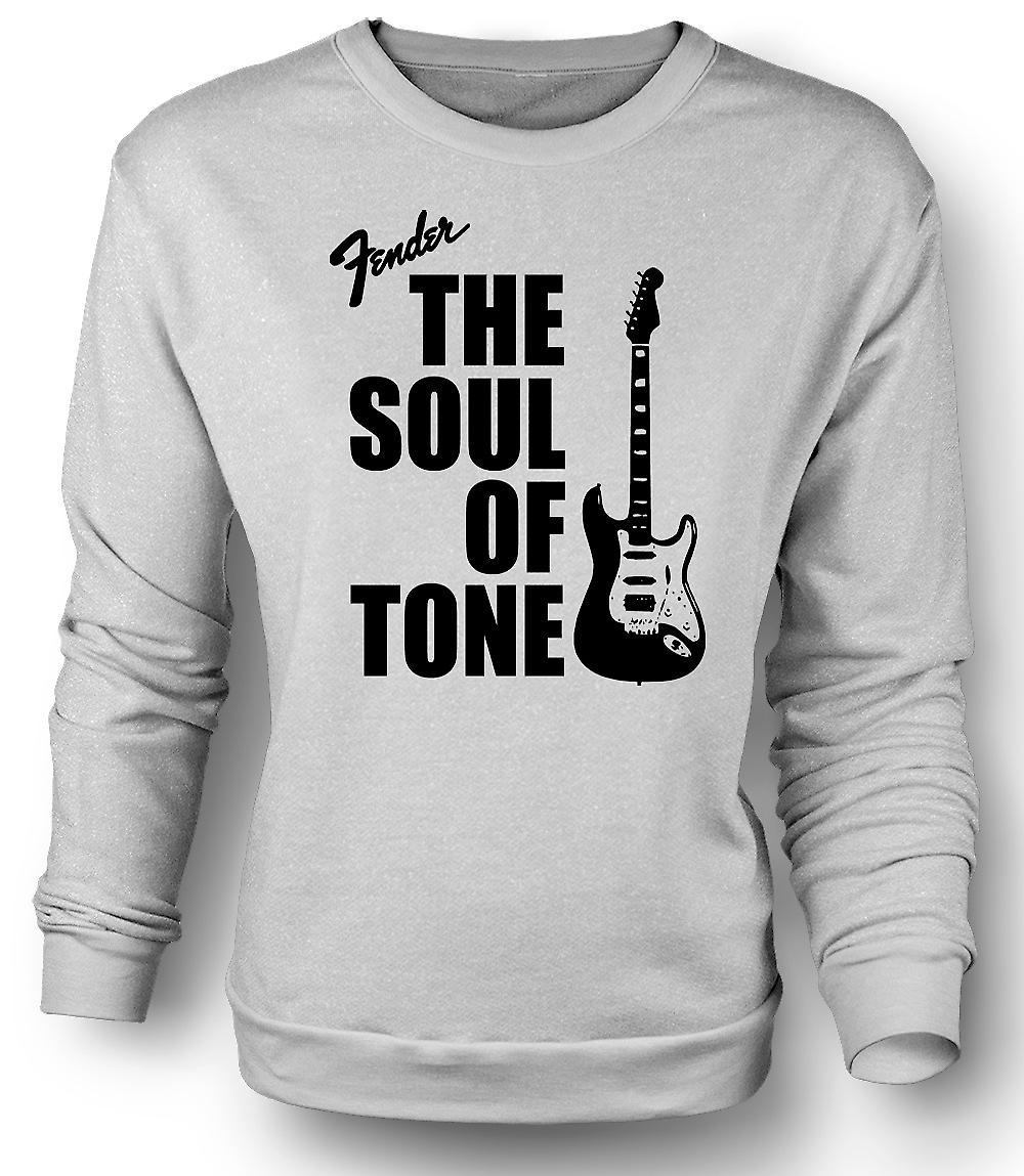 Mens Sweatshirt Fender Strata själ tonen gitarr
