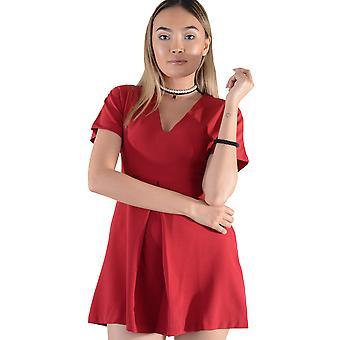 0c92f3f0 Lovemystyle rødt kort erme v-hals Skater Dress - eksempel