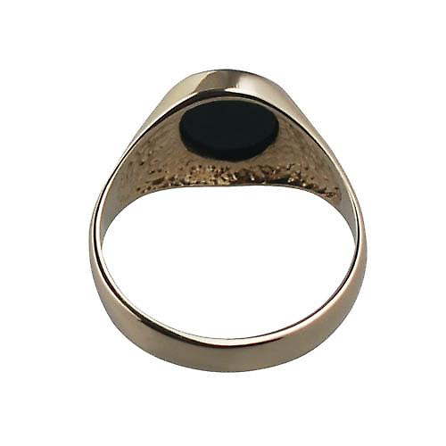 9ct Gold 12x10mm gents Onyx set Signet Ring Size V