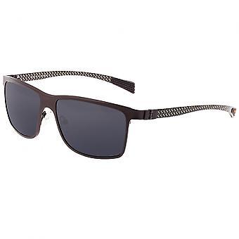 Breed Equator Titanium and Carbon Fiber Polarized Sunglasses - Brown/Black