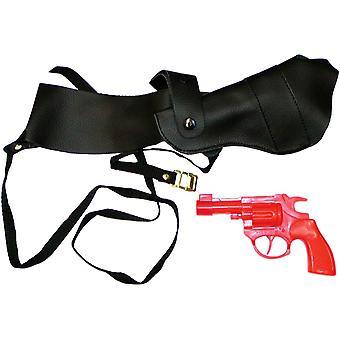 Schulterholster mit Pistole