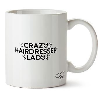 Hippowarehouse сумасшедший парикмахер леди напечатаны Кубка керамическая кружка 10oz