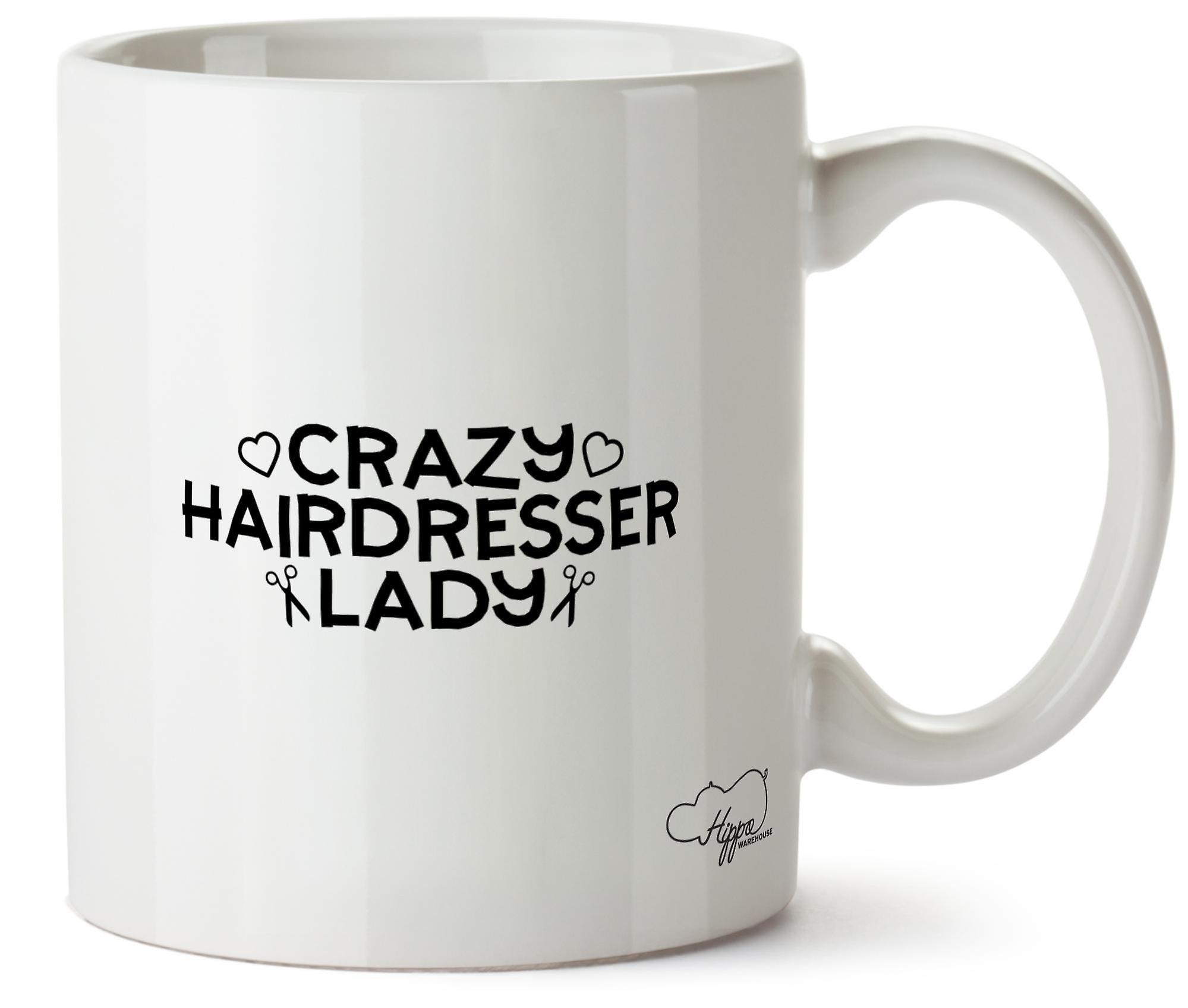 Crazy Céramique Dame Coiffeur 10oz En Hippowarehouse Imprimé Tasse LR3jqc4SA5