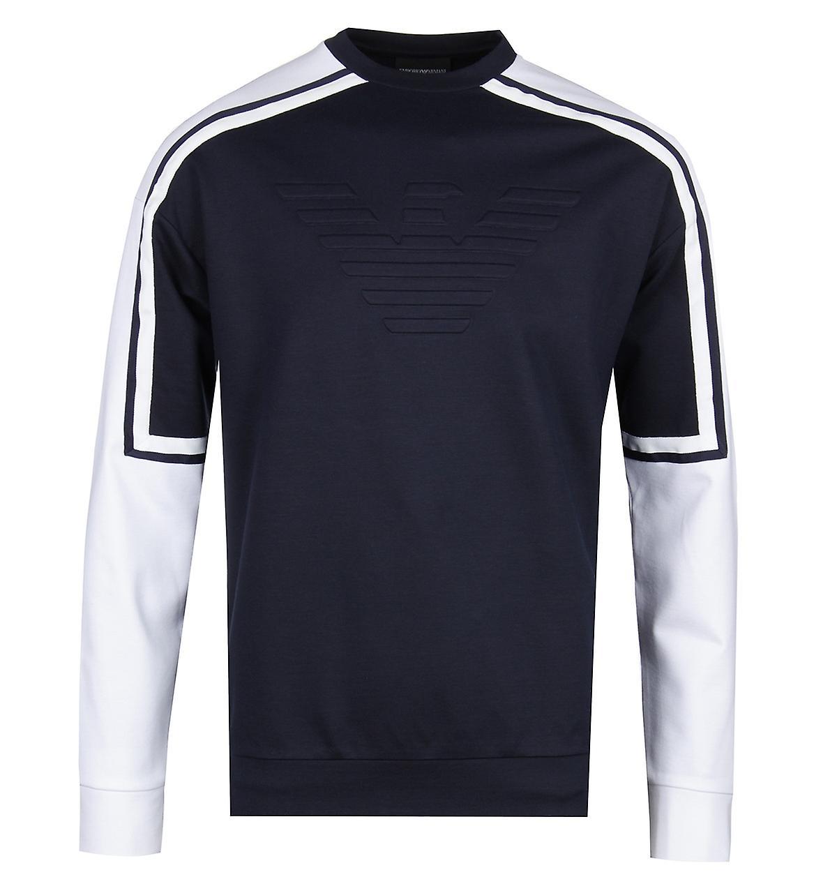 Emporio Arhommei Raglan Sleeve Navy & blanc Sweatshirt