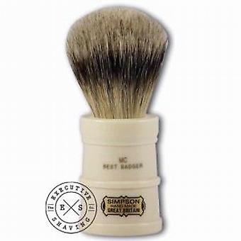 Simpsons Milk Churn Best Badger Hair Shaving Brush in Imitation Ivory