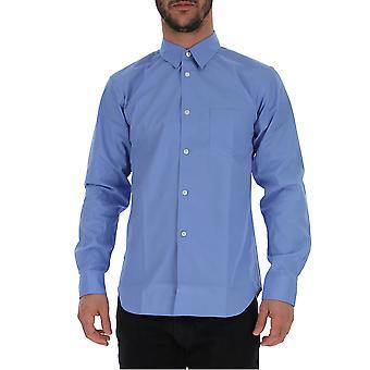Comme Des Garçons Light Blue Cotton Shirt