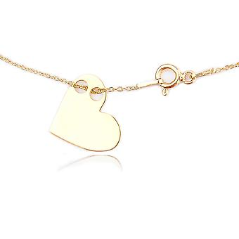 Kändis skiktad stil hänge halsband med en 1,5 cm asymmetrisk hjärta hängsmycke