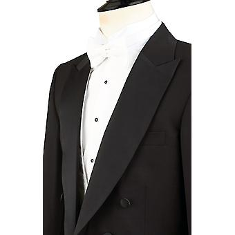 Dobell Mens Black Evening White Tie Tailcoat Jacket Regular Fit