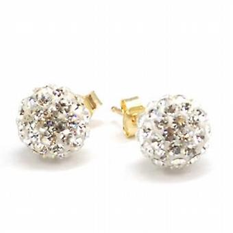 Die Olivia Collection 9Ct Gold 8mm Crystal Ball-Ohrstecker