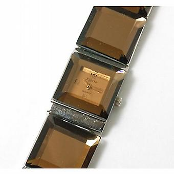 Figaro Mirror Glass Link Bracelet Strap Watch