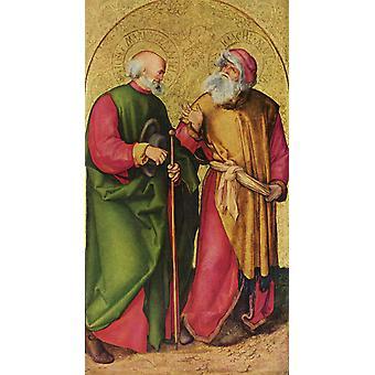 Sts.Joseph and Joachim,Albrecht Durer,60x33cm