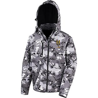 SAS Special Air Service B Sqn - Licensed British Army Embroidered Performance Hooded Camo Softshell Jacket