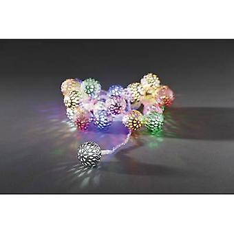 Konstsmide 3177-503 Holiday lights (motif) Globes Inside EEC: LED (A++ - E) mains-powered 21 LED Multi-coloured Illuminated length: 2 m