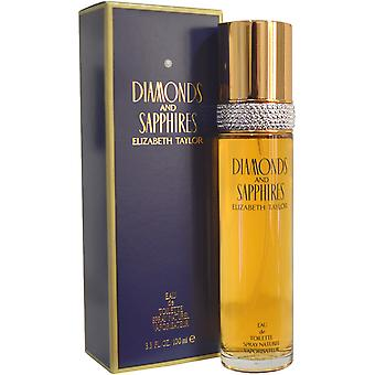 Elizabeth Taylor Diamonds & Sapphires Eau de Toilette Spray 100ml