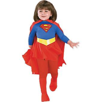 Girls Age 3 - 10 Supergirl Costume Superhero Fancy Dress
