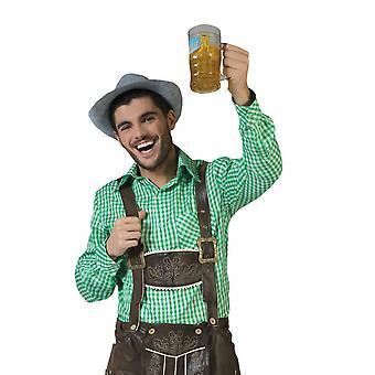 Costumes Shirt Green/White Plaid Men's Costume Cowboy Shirt Men's Costume