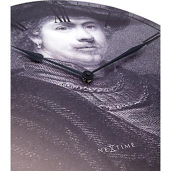 NeXtime - Wall clock – Ø 50 cm - Wood - 'Rembrandt'