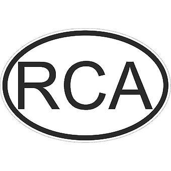 Autocollant Sticker Drapeau Oval Code Pays Voiture Republique Centrafrique Rca