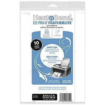 Heat'n Bond Ez Print Featherlite Iron On Adhesive 8.5