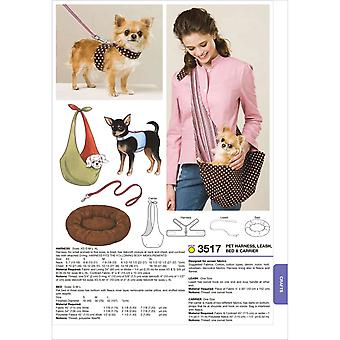 Harness, Leash, Bed And Carrier  Harness Xs  S  M  L  Xl   Bed S  M  L   Carr Pattern K3517