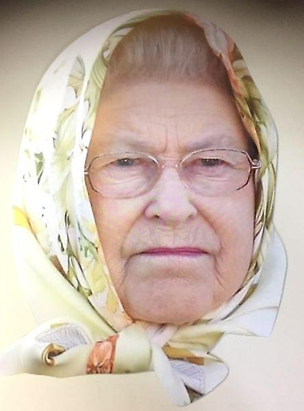 Queen Elizabeth with Headscarf Face Mask.