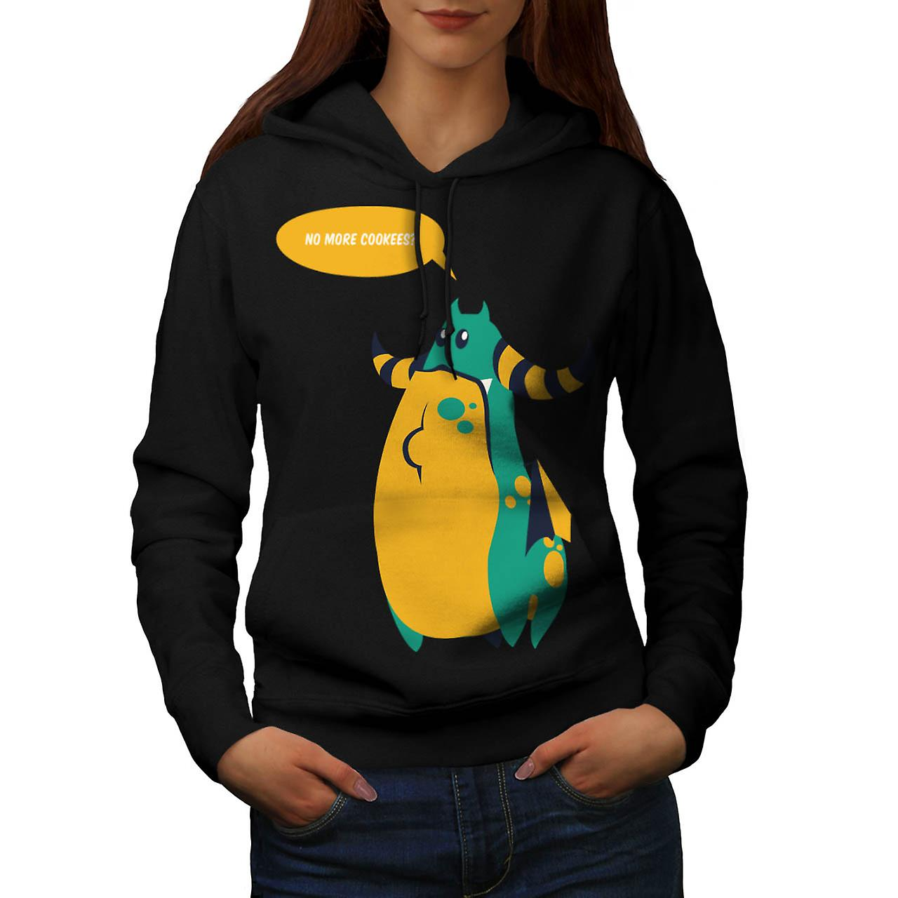 Cookie Monster Thing Wild Funny Women Black Hoodie | Wellcoda