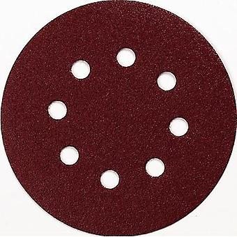 Router sandpaper Hook-and-loop-backed Grit size 80 (Ø) 125 mm Makita P-43555 10 pc(s)