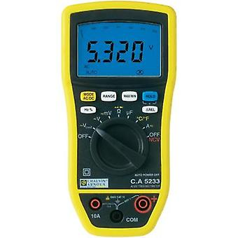 Handheld multimeter digital Chauvin Arnoux C.A 5233 Calibrated to: Manufacturer's standards (no certificate) CAT IV 600