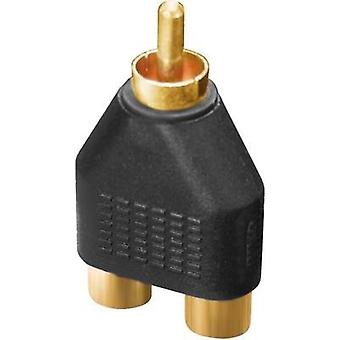 Audio/phono Adapter [2x RCA socket (phono) - 1x RCA connector (phono)] Black Dynavox