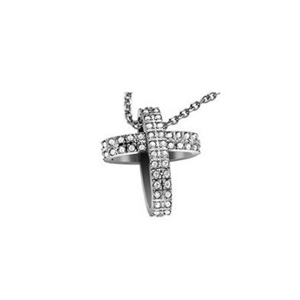Breil ladies chain necklace stainless steel cross big TJ1463