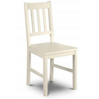 Camoney Stone White Wooden Kitchen Dining Chair