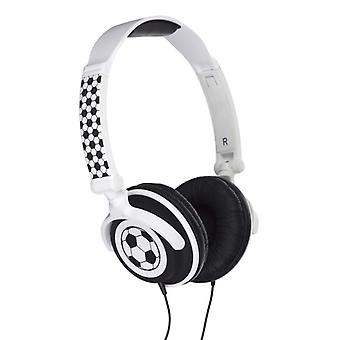 MY DOODLES On-Ear Headphone White Football 85dB