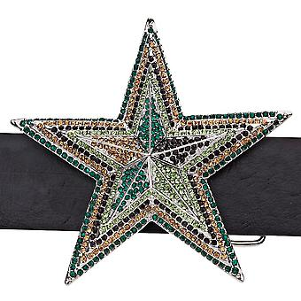 Iced out bling belt - 3D STAR - wood Camo
