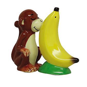 Äffchen liebt eine Banane Salz und Pfeffer Shaker Set