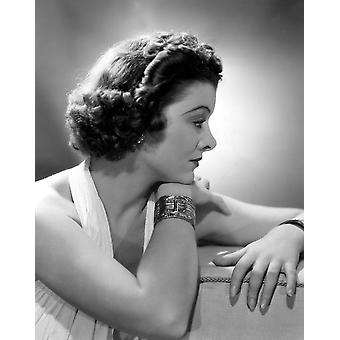 Myrna Loy Mgm 1937 Portrait By Clarence Bull Photo Print