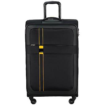 Titanium space 4-roller soft luggage 4 wheel trolley suitcase luggage M 66 cm