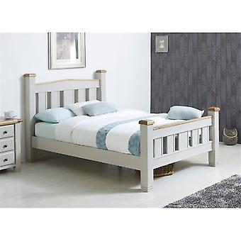 Birlea 180cm Woodstock Bed Grey & Oak
