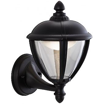 Firstlight Traditional Black LED Coach Wall Light Lantern